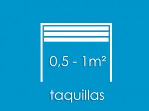taquillas 0,5 1 metro